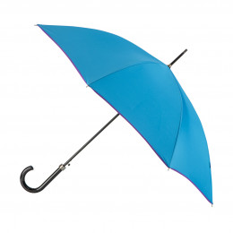 Parapluie Essentiel Uni Cobalt + Biais Lavande droit automatique