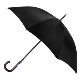 Parapluie Homme Uni Noir droit automatique