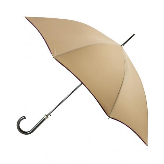 Parapluie Femme Beige Finition prune