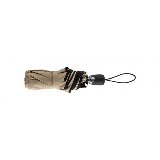 Parapluie Femme Beige Finition Noir Pliant