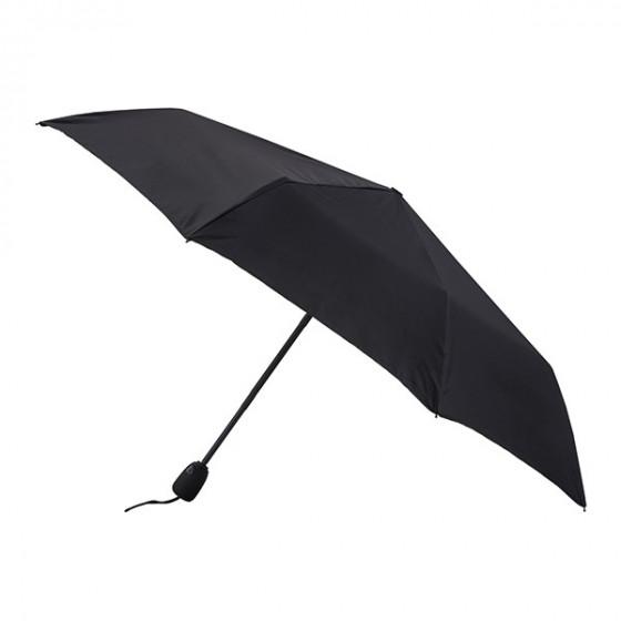 Parapluie Essentiel Uni Noir pliant mini-automatique